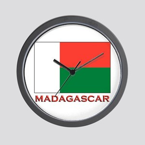 Madagascar Flag Merchandise Wall Clock