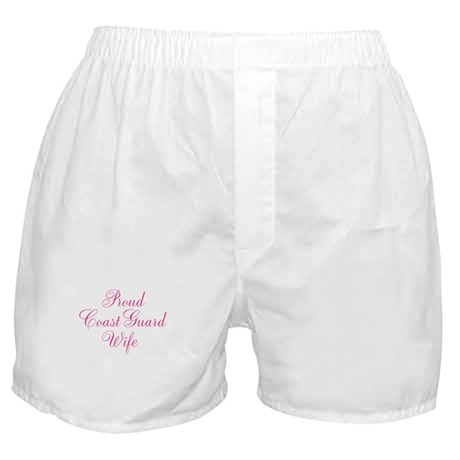 Proud Coast Guard Wife Boxer Shorts