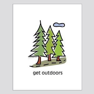 get-outdoors Small Poster