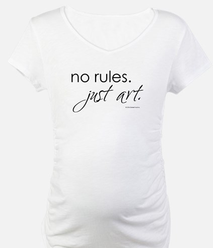 no-rules-just-art-white.png Shirt