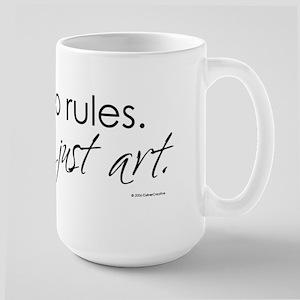 no-rules-just-art-white Large Mug