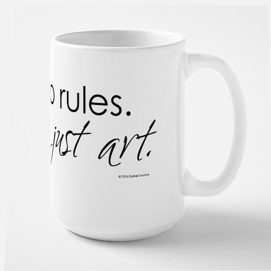 no-rules-just-art-white.png Large Mug
