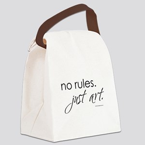 no-rules-just-art-white Canvas Lunch Bag