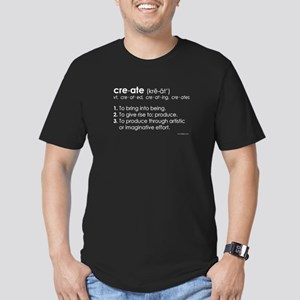 create-definition-side Men's Fitted T-Shirt (d