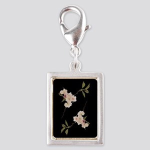 Cherry Blossoms Silver Portrait Charm