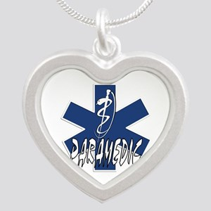 Paramedic Action Silver Heart Necklace