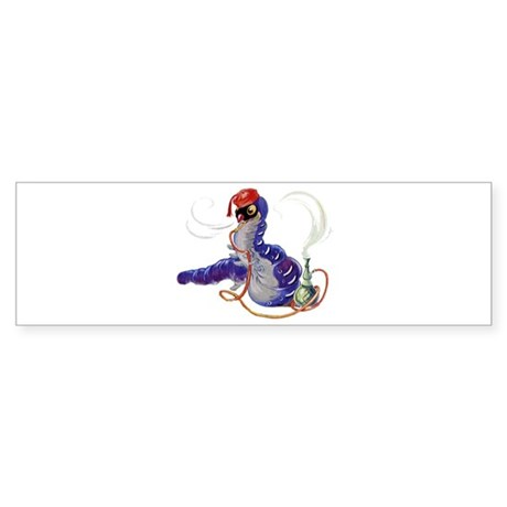The Hookah-Smoking Caterpillar Sticker (Bumper)