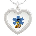 EMS Thanksgiving Silver Heart Necklace