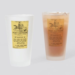 Pony Express Poster Drinking Glass