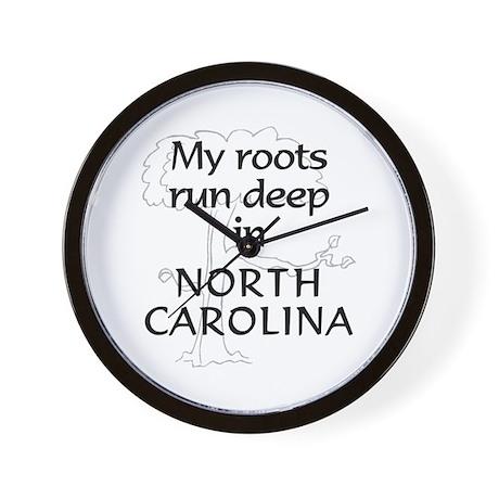 North Carolina Roots Wall Clock