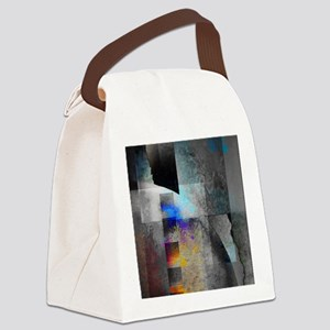 Industrial Grunge with Gray Canvas Lunch Bag