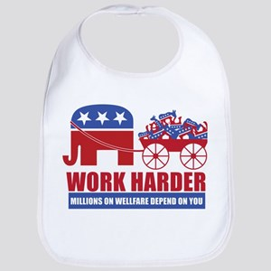 Work Harder Bib