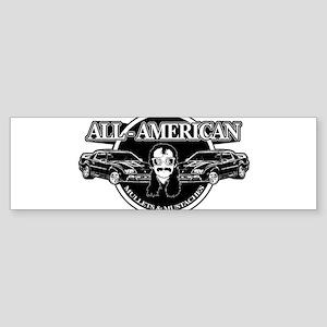 ALL AMERICAN MULLETS MUSTACHES Sticker (Bumper)