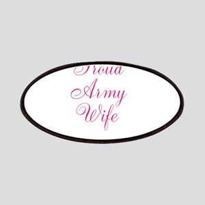 Pink Army Wife Patches