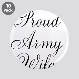 """Army wife 3.5"""" Button (10 pack)"""