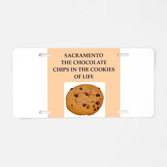 sacramento Aluminum License Plate