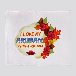 Aruban Girlfriend Valentine design Throw Blanket