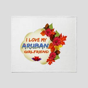 Aruban Girlfriend Valentine design Throw Blanket