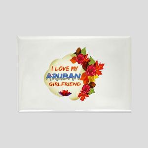 Aruban Girlfriend Valentine design Rectangle Magne