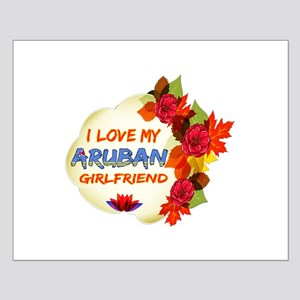 Aruban Girlfriend Valentine design Small Poster