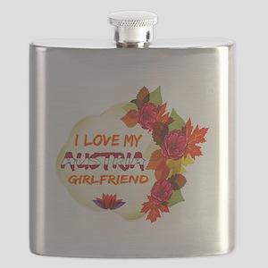 Austrian Girlfriend Valentine design Flask