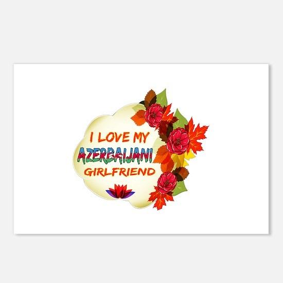 Azerbaijani Girlfriend Valentine design Postcards