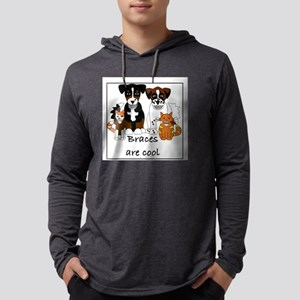 Braces are cool Mens Hooded Shirt