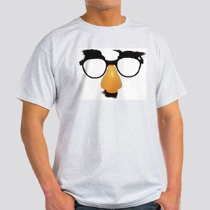 Groucho Marx Moustache Glasses Light T-Shirt