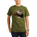 Puffin Portrait Organic Men's T-Shirt (dark)