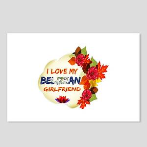 Belizean Girlfriend Valentine design Postcards (Pa