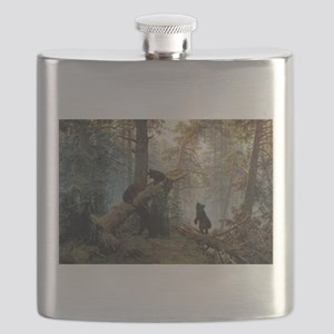 Ivan Shishkin Morning In A Pine Forest Flask