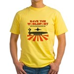 Yellow T-Shirt with Orange Logo on Front Only