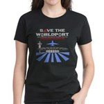 Women's Dark T-Shirt with Front Logo Only
