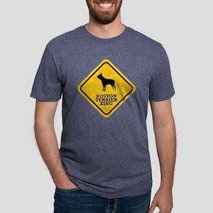15-Boston-Terrier Mens Tri-blend T-Shirt