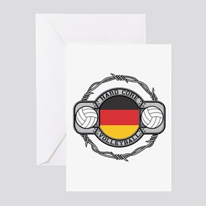 Germany Volleyball Greeting Cards (Pk of 10)