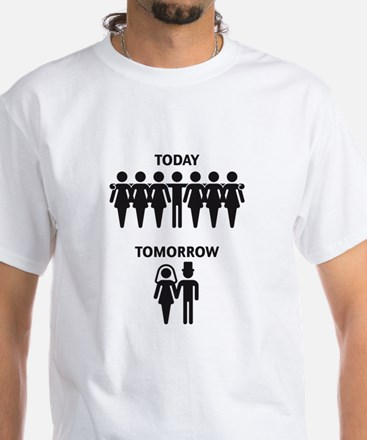 Today - Tomorrow (Stag Night / Stag Party) White T