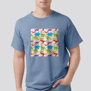 Cool Colorful Kids Dinos Mens Comfort Colors Shirt