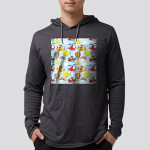 Cute Colorful Pilots, Airplane,  Mens Hooded Shirt