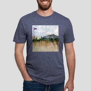 Cape Cod Beach Bathroom Mens Tri-blend T-Shirt
