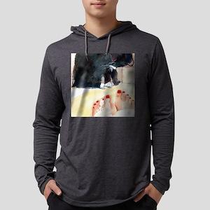 Ebony Bath Black Cat  Mens Hooded Shirt