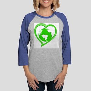 Heart Earth Womens Baseball Tee