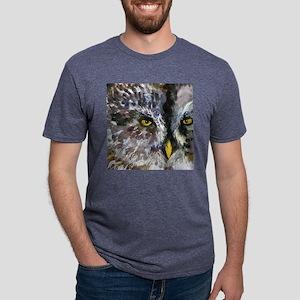 Owl Eyes Bathroom Mens Tri-blend T-Shirt