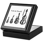 Viola da Gamba Tile Topped Box