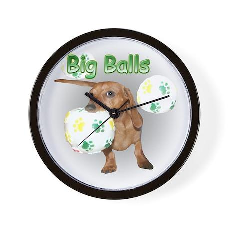 Big Balls Dachshund Dog Wall Clock