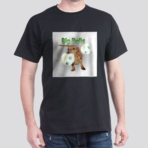 Big Balls Dachshund Dog Dark T-Shirt