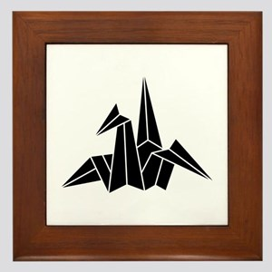 Paper Crane Framed Tile