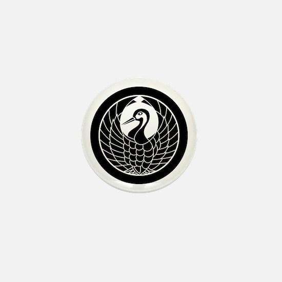 Crane circle, encircled Mini Button