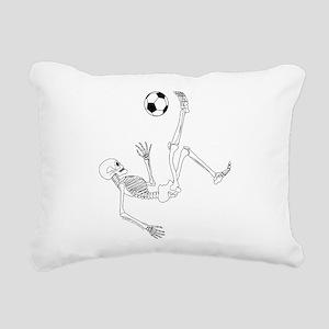 Bicycle Kick Skeleton Rectangular Canvas Pillow