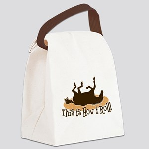 How I Roll Horse Canvas Lunch Bag