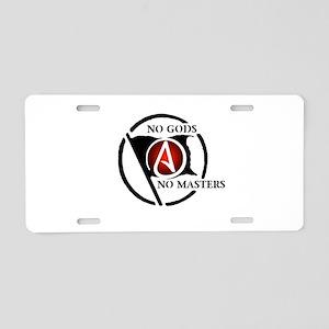 No Gods No Masters Aluminum License Plate
